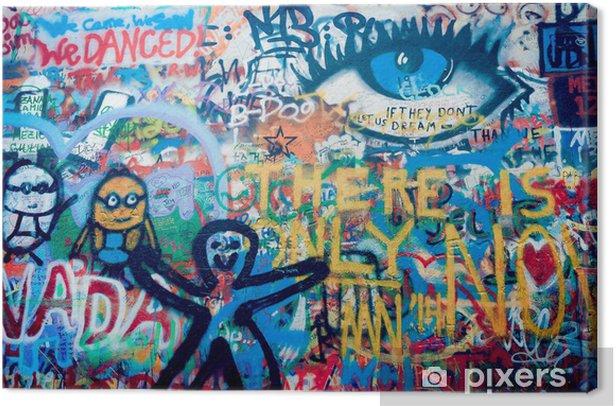 Obraz na płótnie Ściana Johna Lennona w Pradze - Sztuka i twórczość