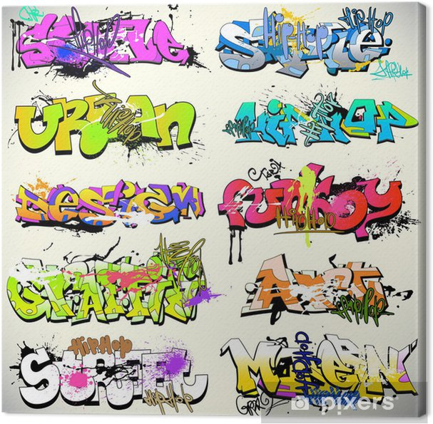 Obraz na płótnie Ściany graffiti wektor miejskich sztuki -