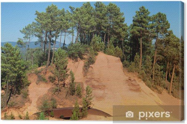 Obraz na płótnie Ścieżka z ochry w Roussillon - Europa