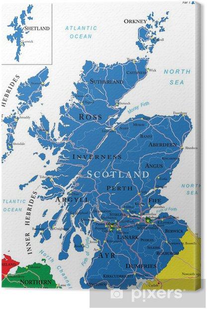 Obraz na płótnie Scotland map - Europa