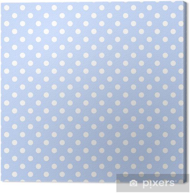 Obraz na płótnie Seamless Baby Blue & White Background Polkadot - Święta Narodowe