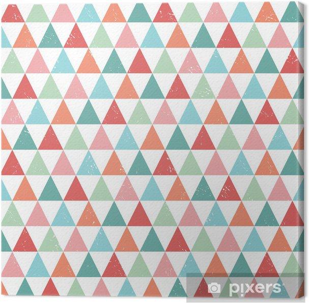 Obraz na płótnie seamless hipster geometric pattern bright pastel colors - Tła