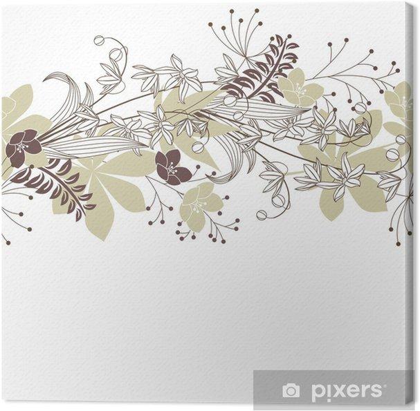 Obraz na płótnie Seamless Patten z leśnych kwiatów i roślin - Tła