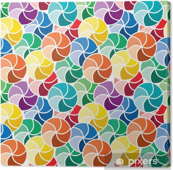 Obraz na płótnie Seamless żywy wzór wirować - Sztuka i twórczość