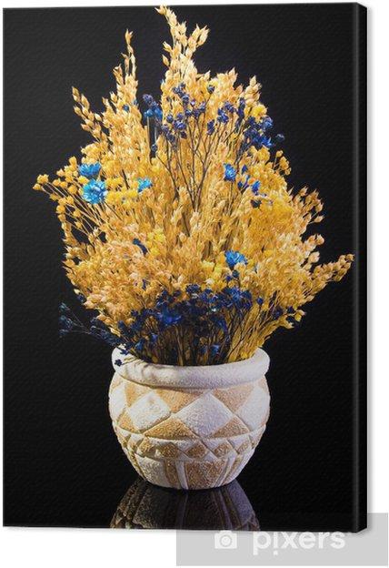 Obraz na płótnie Sear kwiat na czarnym tle - Kwiaty