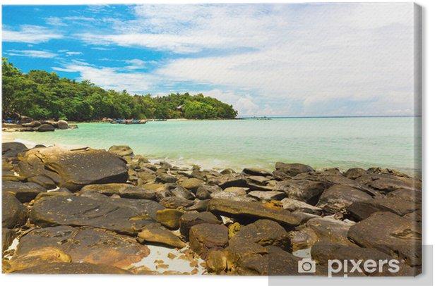 Obraz na płótnie Seascape skalista zatoka niebieski - Natura i dzicz