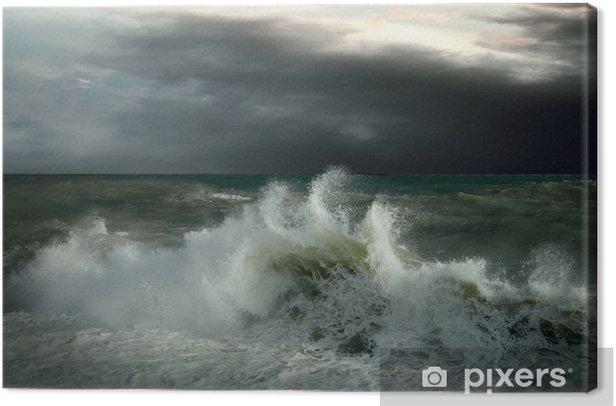 Obraz na płótnie Seascape widok burzy - Klęski żywiołowe