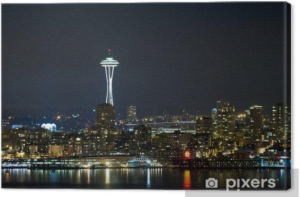 Obraz na płótnie Seattle skyline w nocy. - Miasta amerykańskie
