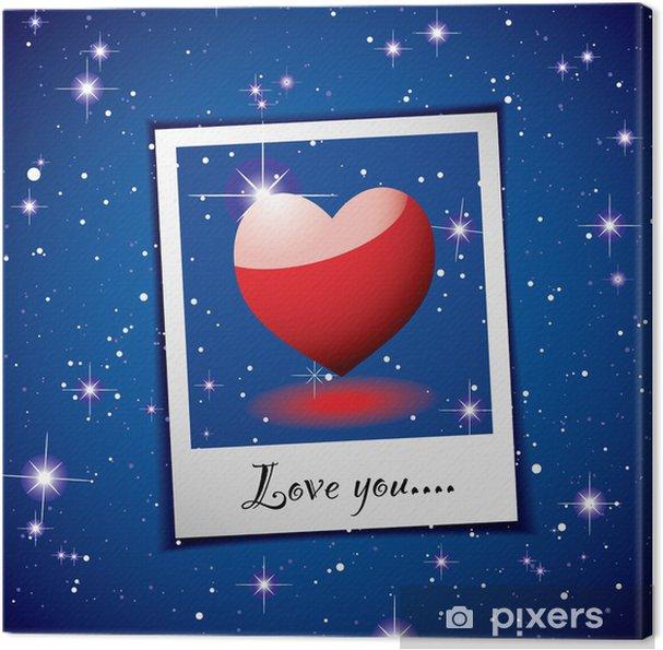 Obraz na płótnie Serce miłość photo space - Szczęście