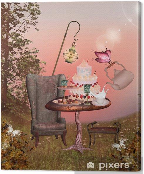 Obraz na płótnie Seria Wonderland - bankiet urodziny -