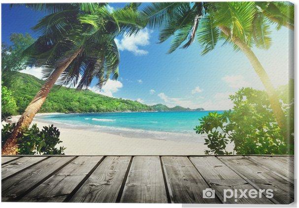 Obraz na płótnie Seszele plaża i drewniane molo - Woda