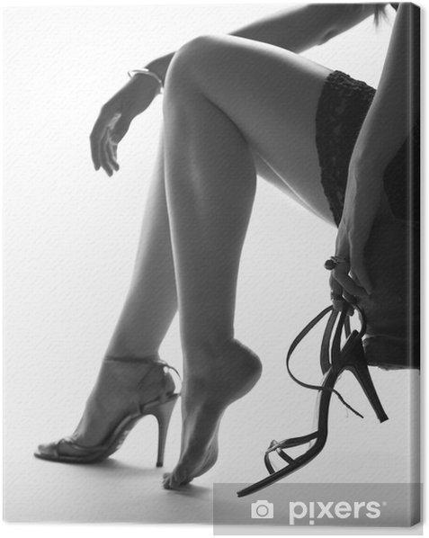 Obraz na płótnie Sexy nogi młodej kobiety, ze wysokie buty pięty - Tematy