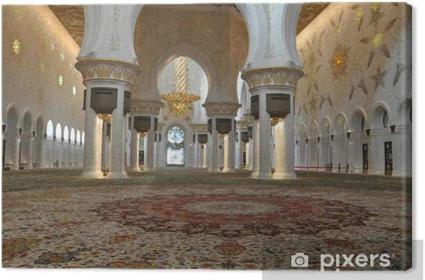 Obraz na płótnie Sheikh Zayed Wielki Meczet w Abu Dhabi - Bliski Wschód