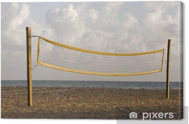 Obraz na płótnie Siatkówka plażowa gra kort na wschodu lub zachodu słońca - Woda