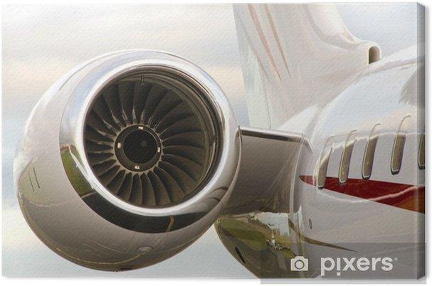Obraz na płótnie Silnik odrzutowy na prywatny samolot - Bombardier - Koncepcje biznesowe