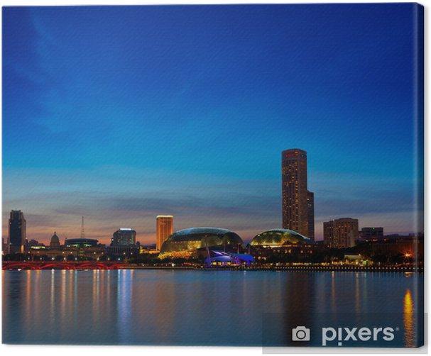 Obraz na płótnie Singapore skyline wieczór - Tematy