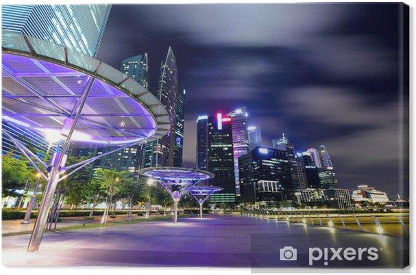 Obraz na płótnie Singapur panoramę miasta nocą - Tematy