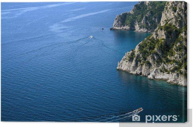 Obraz na płótnie Skaliste wybrzeże, wyspa Capri (Włochy) - Europa