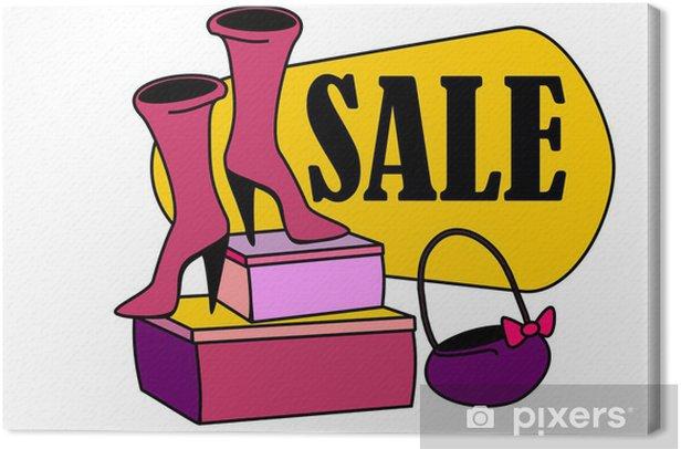 Obraz na płótnie Sklep buty - Sprzedaż
