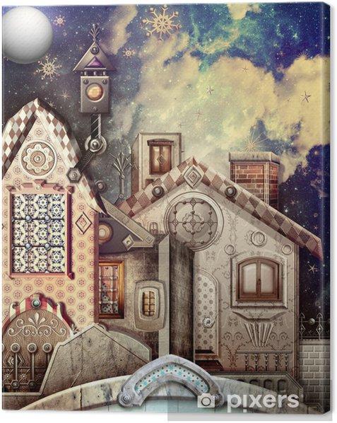 Obraz na płótnie Skłodowska w gwiaździstą noc i księżyc w pełni - Inne uczucia