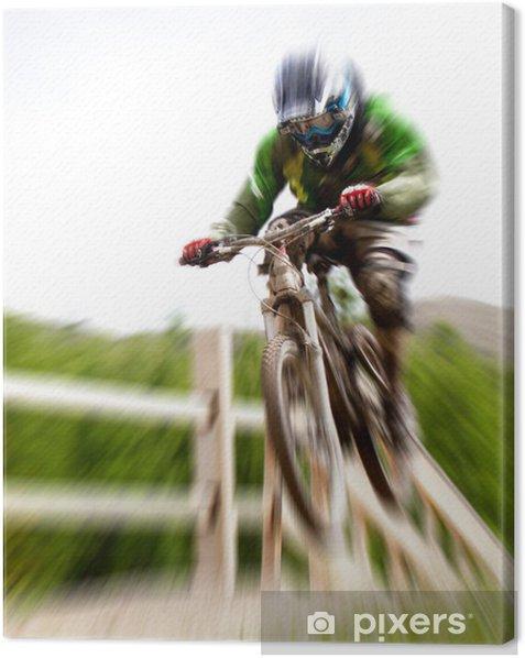 Obraz na płótnie Skok na rowerze - zoom - Sporty indywidualne