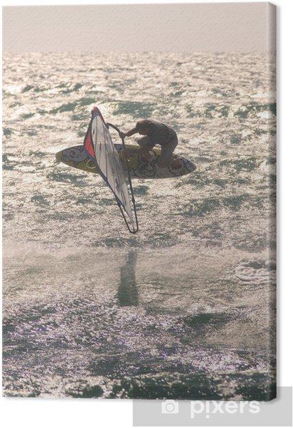 Obraz na płótnie Skok windsurfing 3 - Sporty wodne