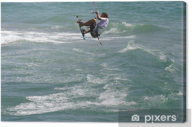 Obraz na płótnie Skok wzwyż nad morzem - Sporty wodne