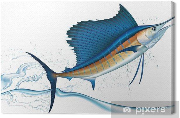 Obraz na płótnie Skoki Sailfish - Zwierzęta żyjące pod wodą