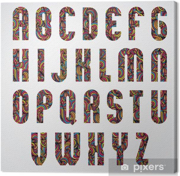 Obraz na płótnie Skrócone projekt zdobione litery alfabetu - Sztuka i twórczość