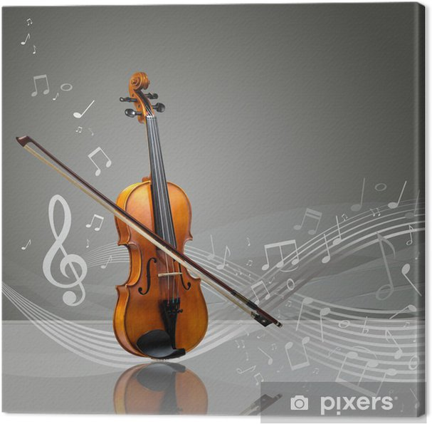 Obraz na płótnie Skrzypce i trzymać skrzypce z nut - iStaging
