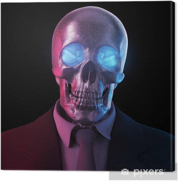 Obraz na płótnie Skull ubrany w garnitur 3D - Życie