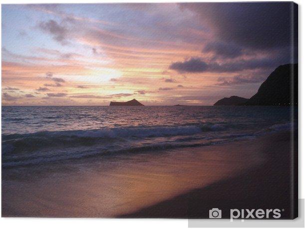Obraz na płótnie Sky tuż przed wschodem słońca na plaży Waimanalo - Ameryka