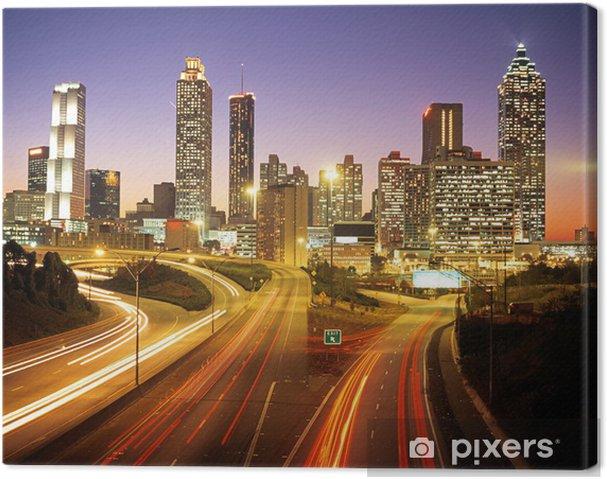 Obraz na płótnie Skyline o zmierzchu, Atlanta, Georgia © areny zdjęcia uk - Tematy