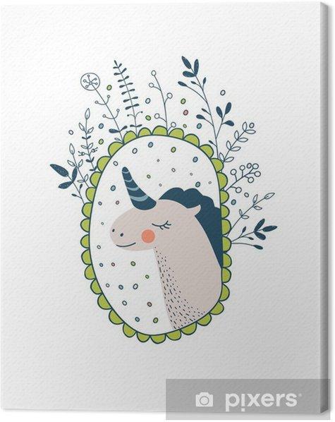Obraz na płótnie Śliczne magiczne kolekcji z jednorożcem, tęczy, bajki skrzydeł. Śnić - Zwierzęta