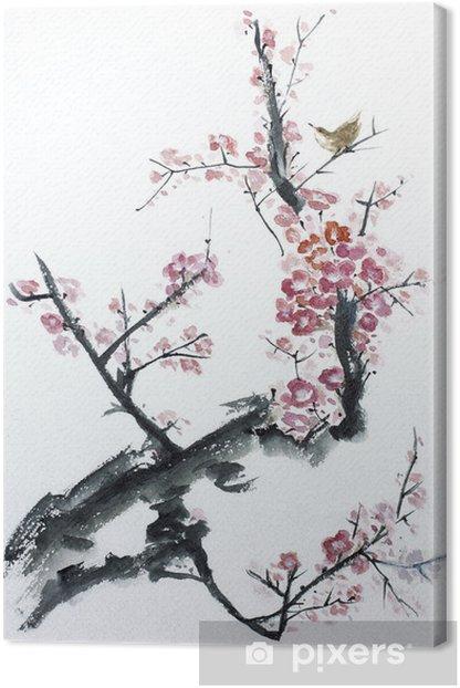 Obraz na płótnie Śliwa kwiat - Style