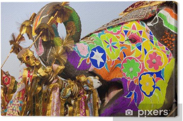 Obraz na płótnie Słoń na festiwalu słonia w Jaipur - Azja