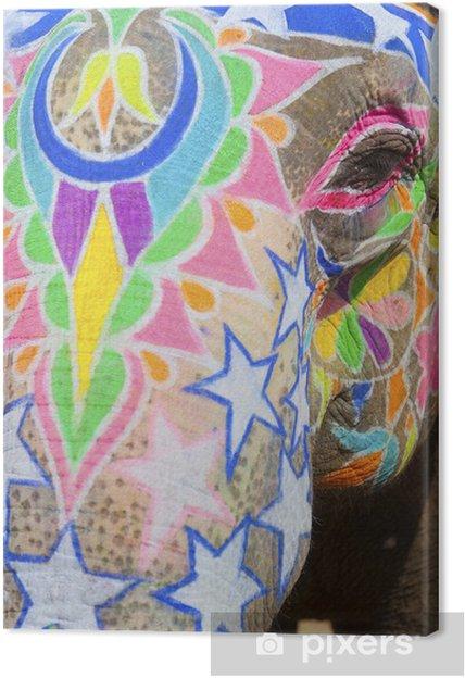 Obraz na płótnie Słoń Słoń na festiwalu roczne, Jaipur, Indie. - Azja