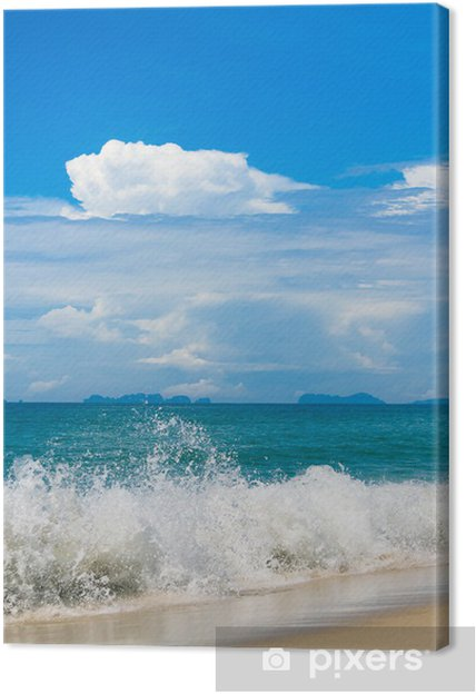 Obraz na płótnie Słońce scena wakacje na plaży - Woda