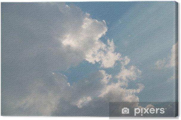 Obraz na płótnie Słońce za chmurą - Niebo