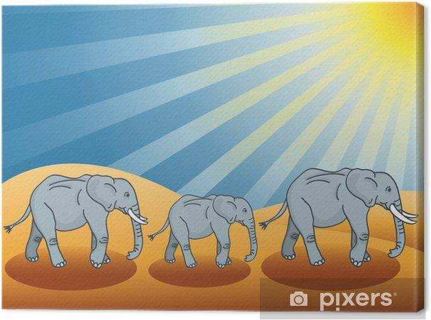 Obraz na płótnie Słonie pustynne - Ssaki