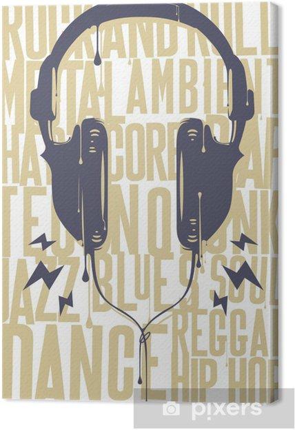 Obraz na płótnie Słuchawki malowane - Hip Hop
