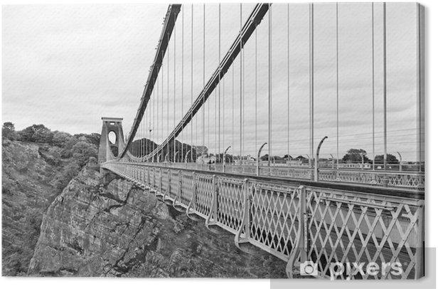 Obraz na płótnie Słynny Clifton Suspension Bridge w Bristolu - Miasta europejskie