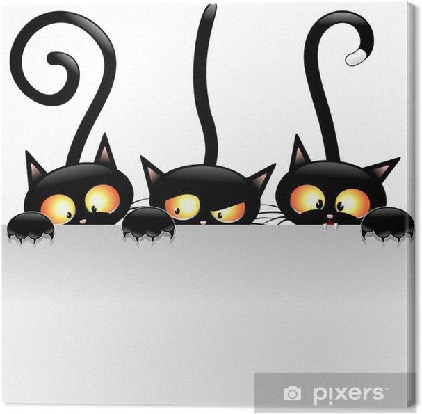 Obraz na płótnie Śmieszne koty koty śmieszne kreskówki z panelem panelu -