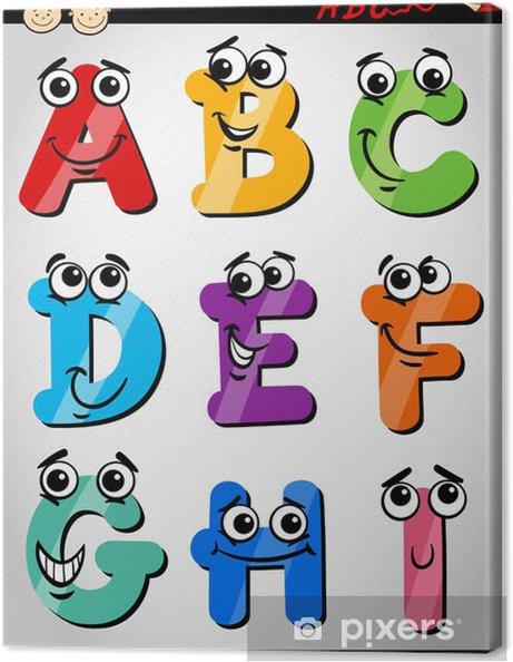 Obraz na płótnie Śmieszne litery alfabetu cartoon ilustracji - Tematy