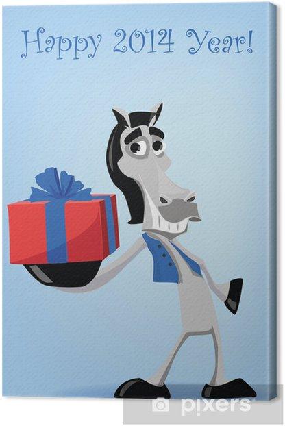 Obraz na płótnie Śmieszne obecny koń, Boże Narodzenie - Święta międzynarodowe