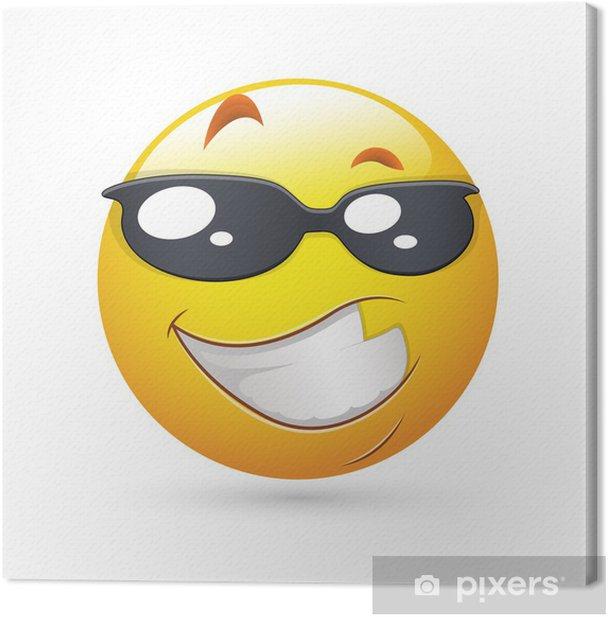 Obraz na płótnie Smiley Face Vector Emotikony - Handsome Expression - Znaki i symbole