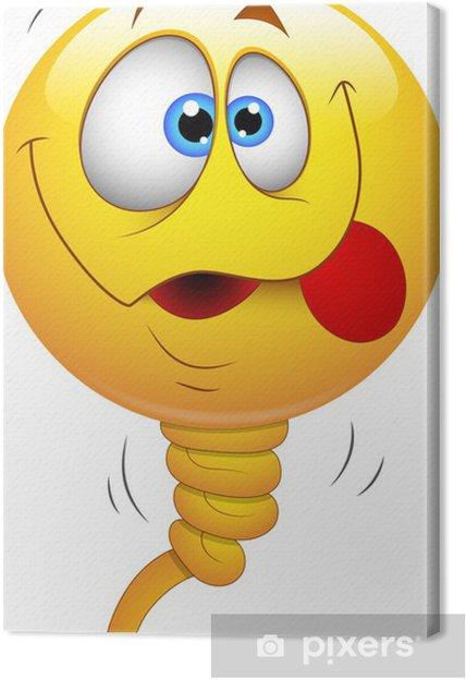 Obraz na płótnie Smiley Vector Illustration - Face Balloon - Inne uczucia