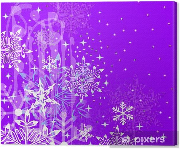 Obraz na płótnie Śniegowe gwiazdki - Święta międzynarodowe