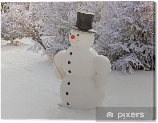 Obraz na płótnie Snowman i miotły - Pory roku