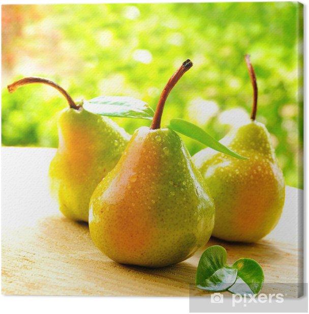 Obraz na płótnie Soczyste gruszki - Owoce